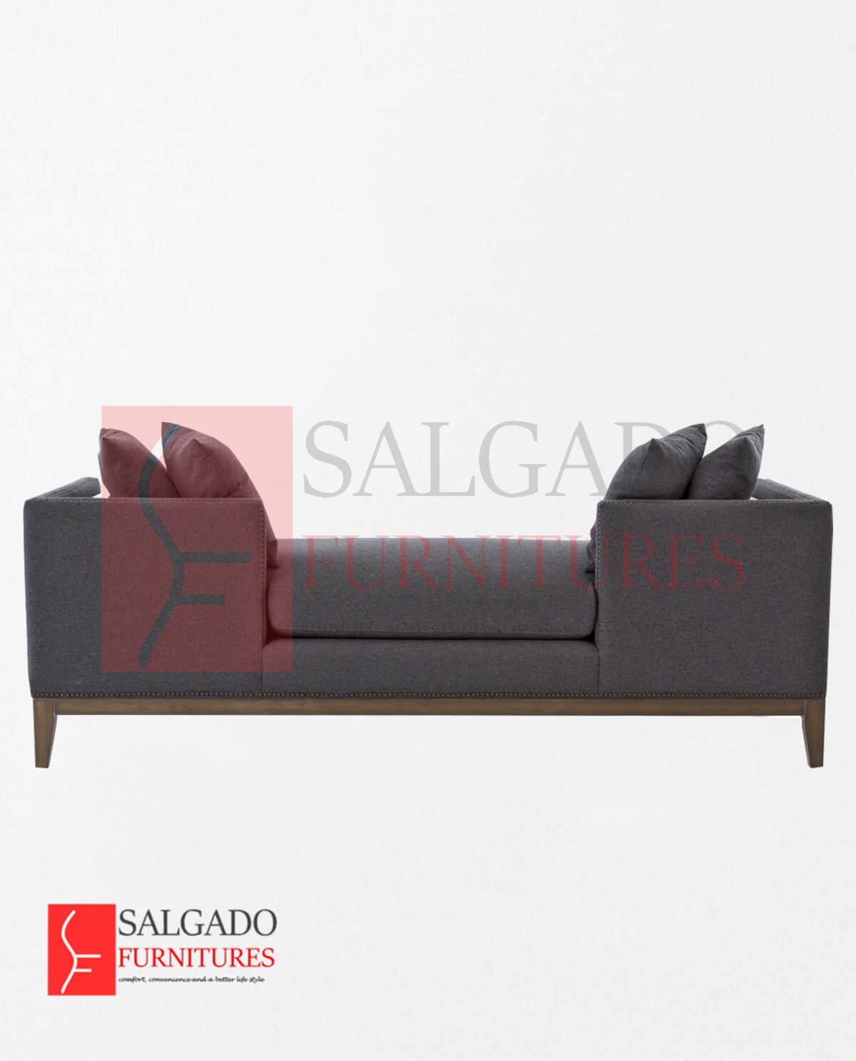 Pleasant Charcoal Daybed Sofa Salgado Furniture Design Studio In Download Free Architecture Designs Ferenbritishbridgeorg