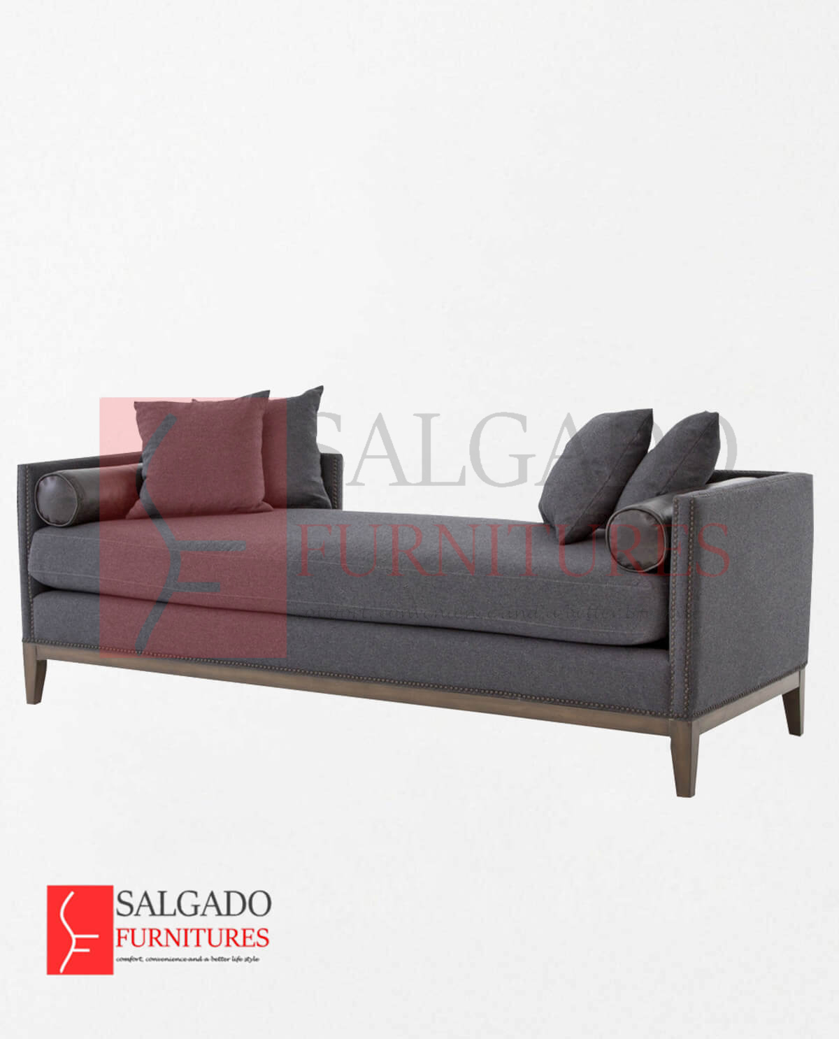 Charcoal Daybed Sofa