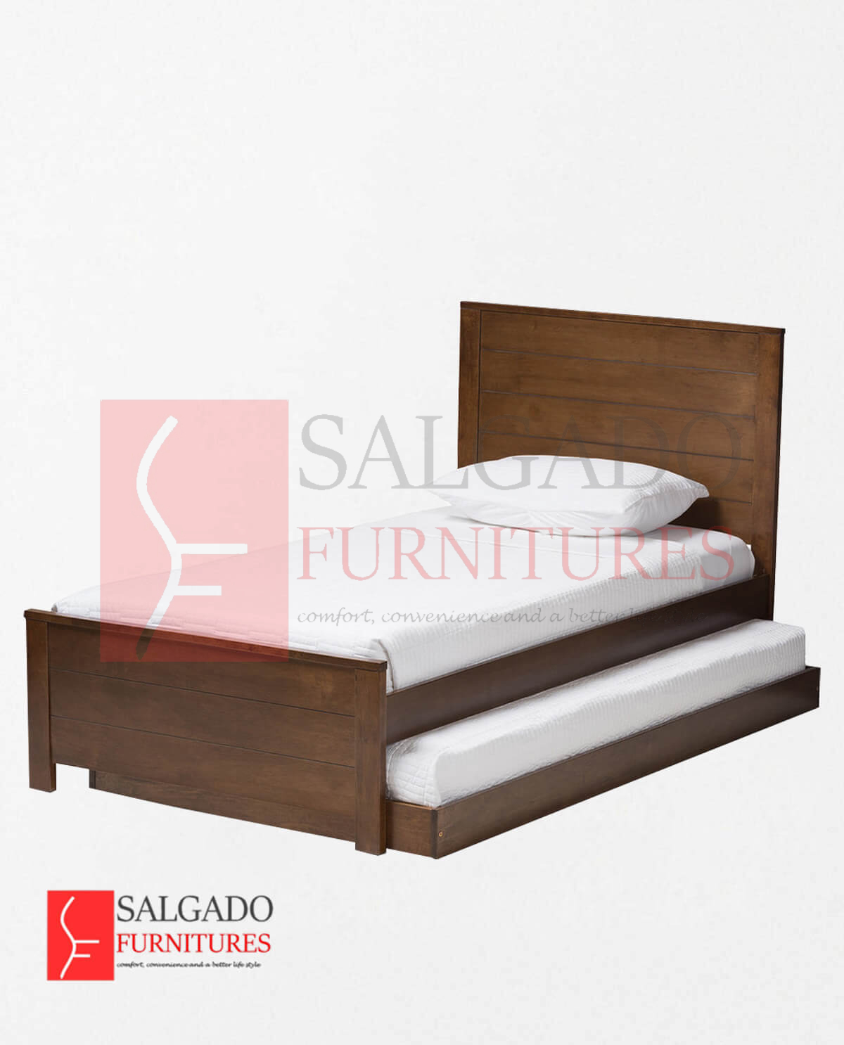 Catalina Brown-Finished Wood Twin Platform Bed