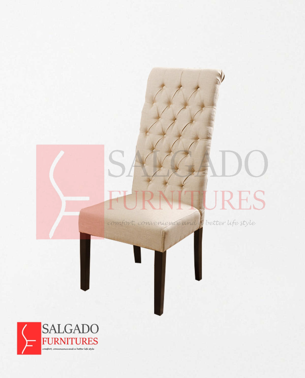 Chaplien Tall Tufted Dining Chair