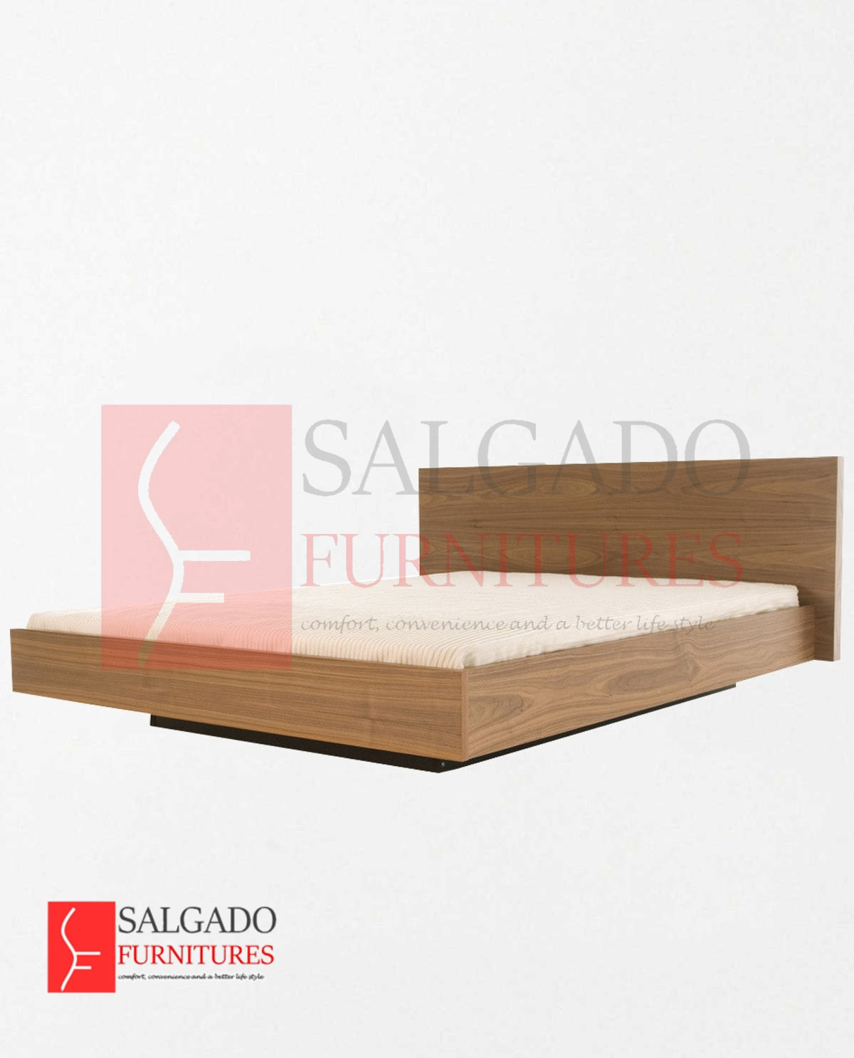 Fiat King Bed Walnut