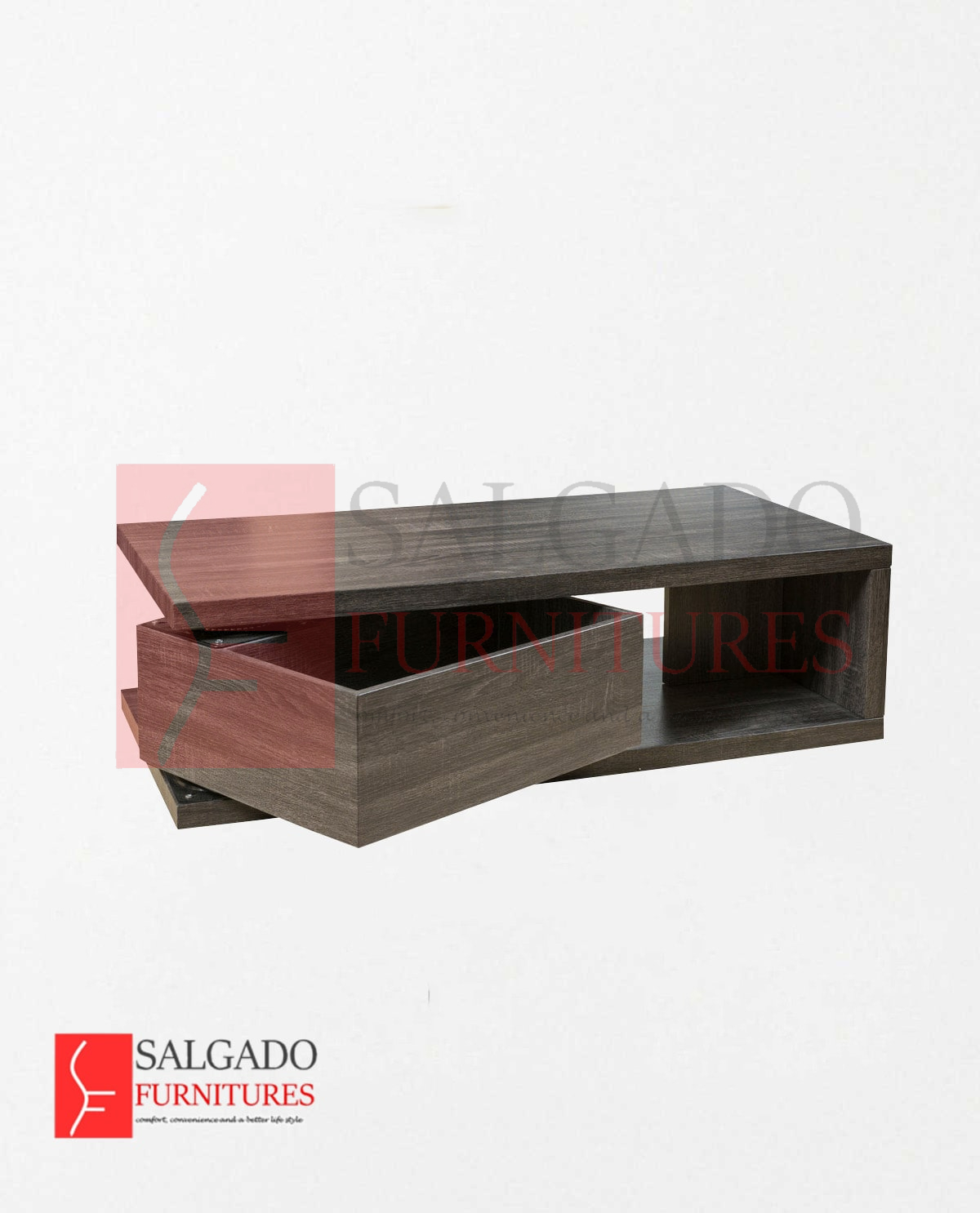 Rectangular Rotating Coffee Table